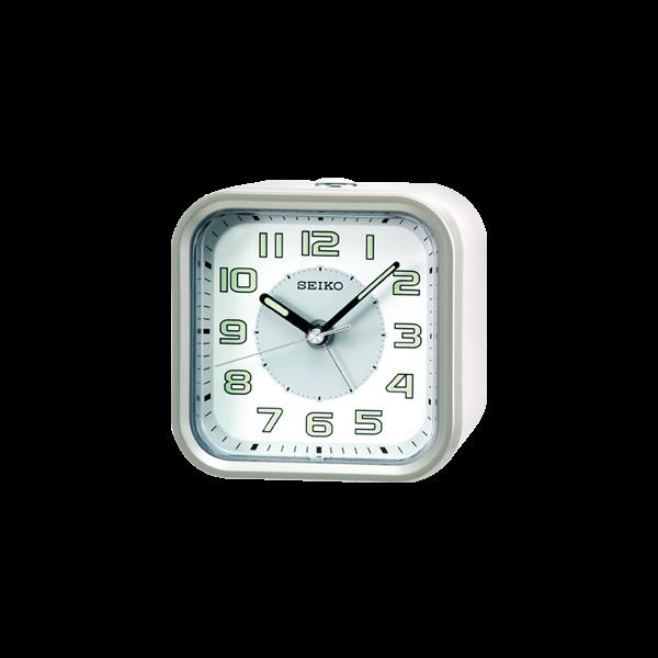 SEIKO精工 貪睡功能、鬧鈴、夜光、燈光、滑動式秒針鬧鐘【QHE128A】原廠公司貨 ,附原廠保證卡