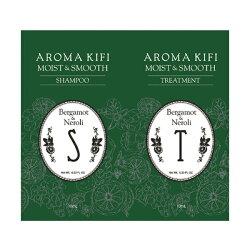 【買1送1,下1出2】AROMA KIFI 植粹滑順洗護體驗組 (洗髮10ml+護髮10ml)【無矽靈】
