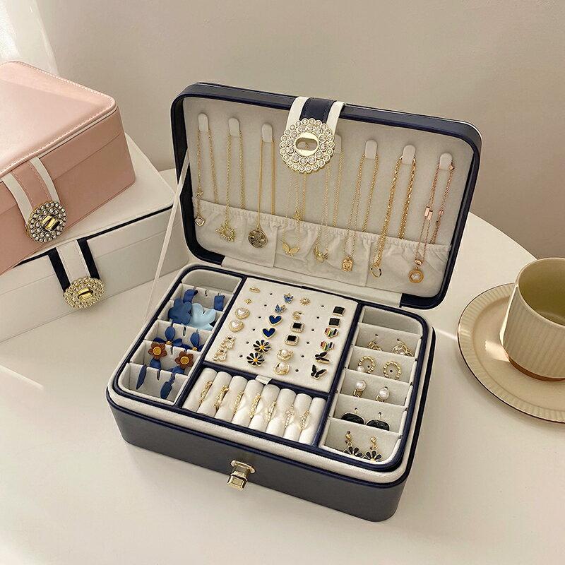 珠寶收納盒 珠寶首飾盒多層大容量精致便攜收納盒耳環戒指女飾品歐式高檔精致【XXL3733】