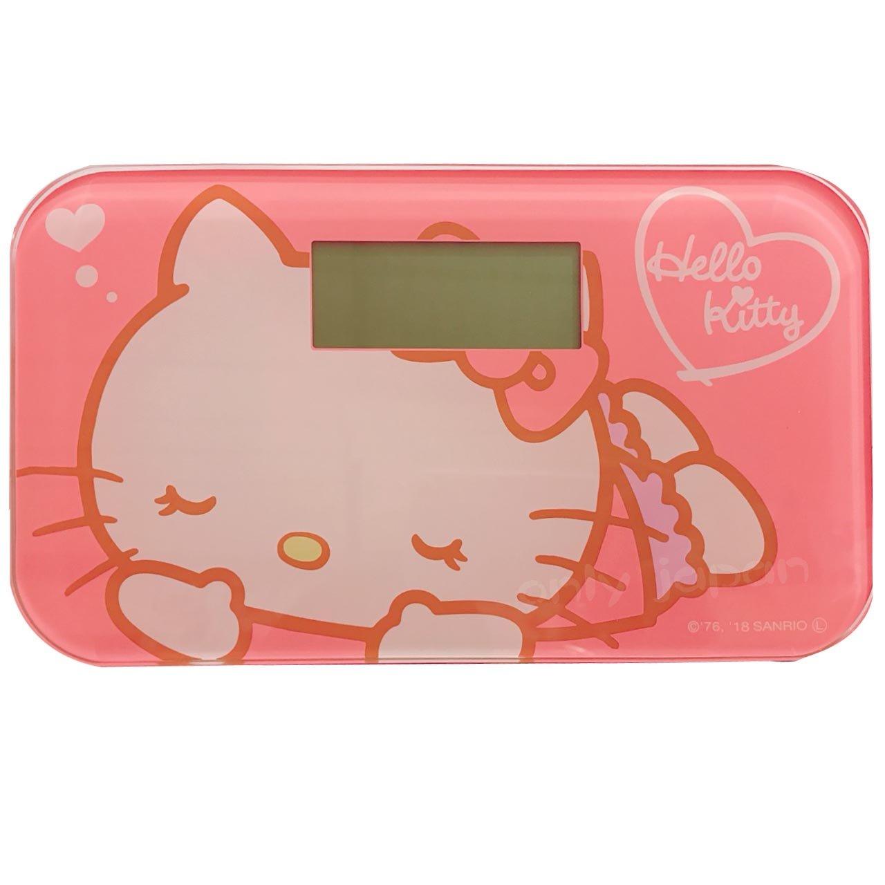 【真愛日本】18042000006 日本景品體重計-KT睡覺 kitty 凱蒂貓 體重計 體重機 日本 景品