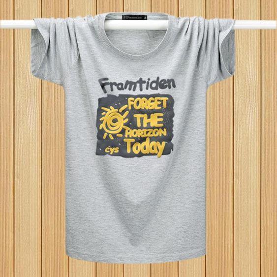 男短袖t恤潮流簡單 百搭圓領寬鬆大碼體恤春夏季新款潮牌休閒半袖