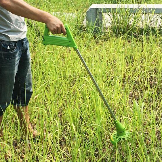 割草機家樂美 充電式電動割草機打草機神器家用除草機小型多 草坪機 麻吉鋪