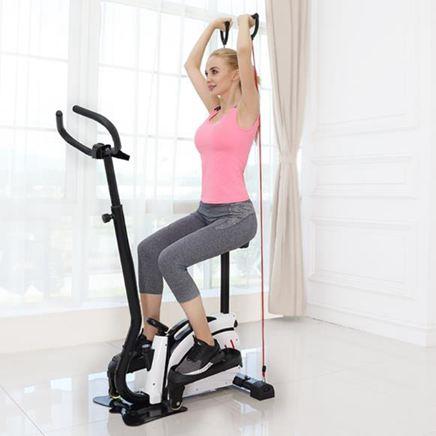 踏步機家用靜音橢圓慢跑機多功能跑步運動小型健身器材 CJ3369『麗人雅苑』