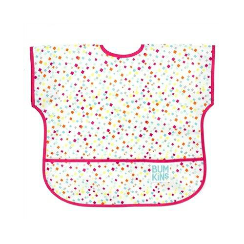 美國【Bumkins】兒童短袖防水圍兜 -方格點點 BKU-148 (1-3歲) - 限時優惠好康折扣