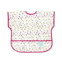 【美國Bumkins】兒童(1-3歲)短袖防水圍兜-方格點點 BKU-148【紫貝殼】