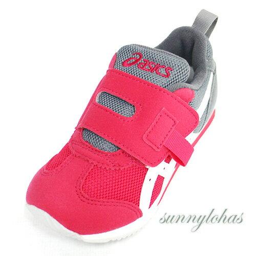 【ASICS亞瑟士】SUKU2機能童鞋IDAHOMINIKT-ES運動鞋TUM190-700玫紅灰