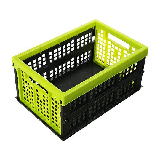 DY-223 中美式摺疊籃(綠色) / 置物箱 整理工具箱 玩具箱 收納箱【139百貨】
