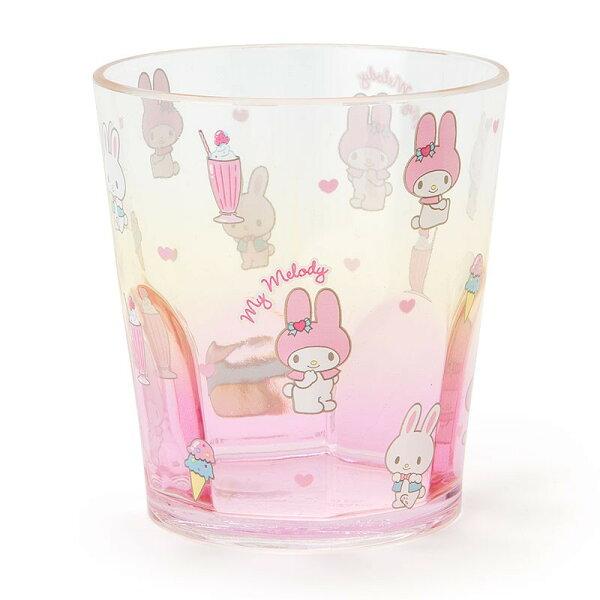 X射線【C315446】美樂蒂Melody塑膠杯280ml,水杯馬克杯杯瓶茶具湯杯玻璃杯不鏽鋼杯漱口杯