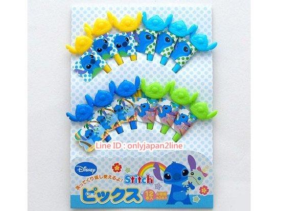 【真愛日本】17021600009食物小叉子-12入4色史迪奇   迪士尼 星際寶貝 史迪奇   環保餐具 湯匙 叉子