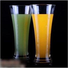 【玻璃奶昔果汁杯-口徑7.8*高18cm-340ml-3個/組】閃耀啤酒杯 冷飲杯 奶昔杯 果汁杯,量大從優-7501008