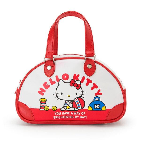 【真愛日本】4901610382837迷你復古手提包-KT網球ACQ凱蒂貓kitty零錢包化妝包收納包