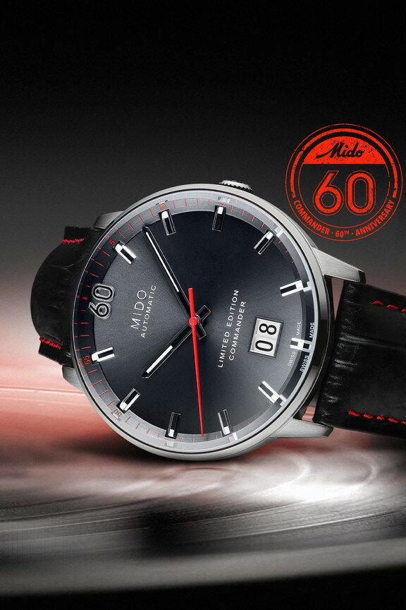 MIDO 美度 香謝系列 COMMANDER 60週年 限量大日期窗腕錶M0216261608100黑/42mm