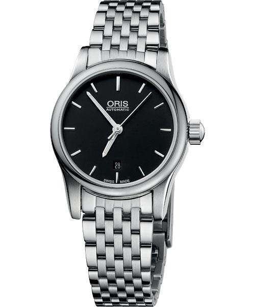 ORIS 豪利時0156176504054-0781461 經典三針機械腕錶/黑面28mm