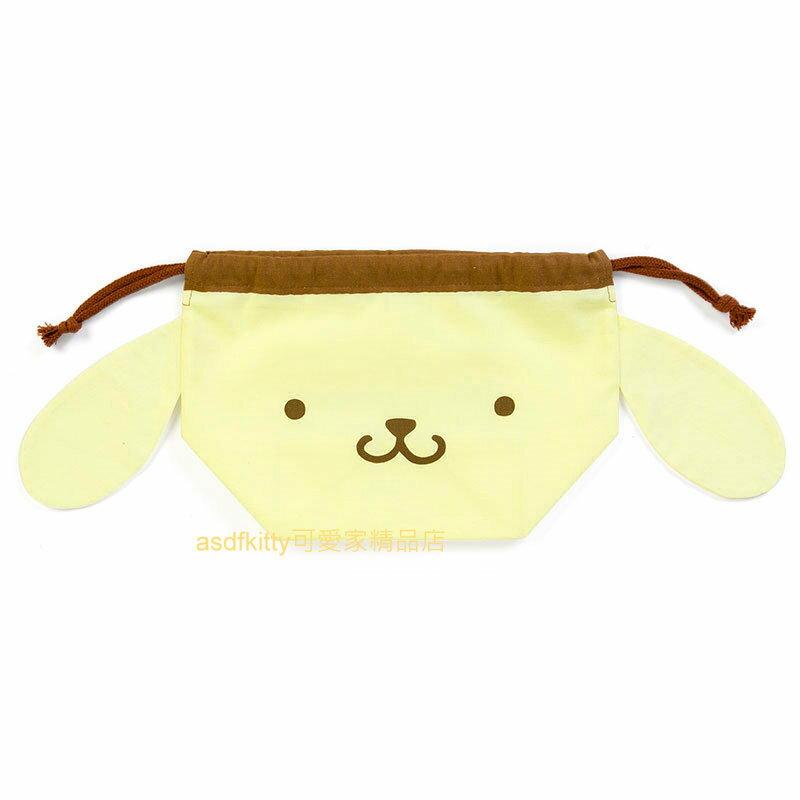 asdfkitty可愛家☆布丁狗立體束口袋/收納袋/便當袋-立體版型,空間更大-日本製