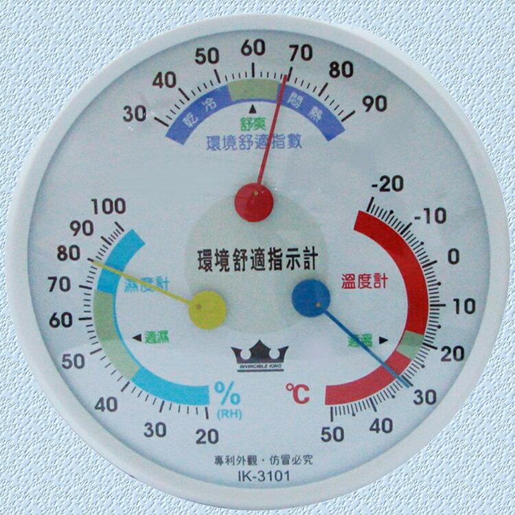 小玩子 無敵王 指針型 溫溼度計 可站立 壁掛 環境指數 免裝電池 居家好夥伴 IK-3101