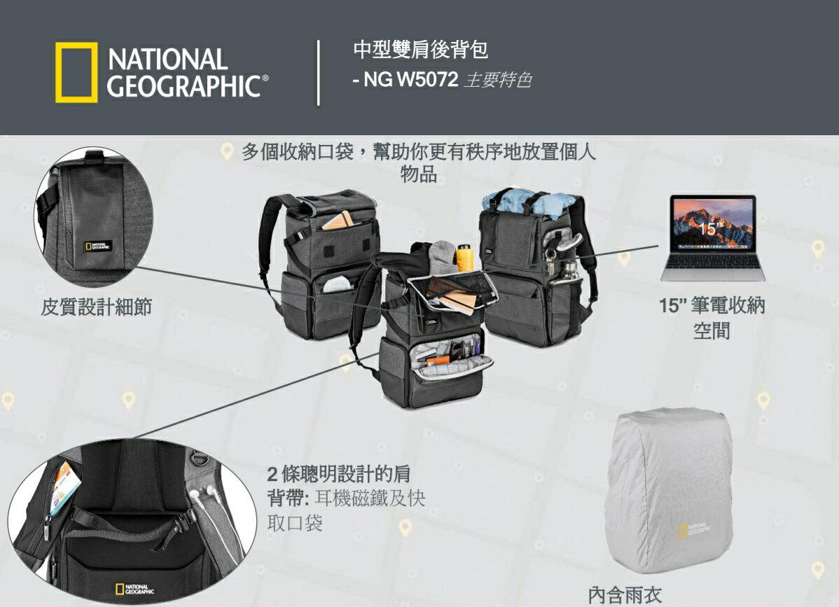 國家地理 National Geographic Walkabout NG W5072 都會潮流系列 中型雙肩後背包 正成公司貨 後背包 相機包 一機多鏡 2