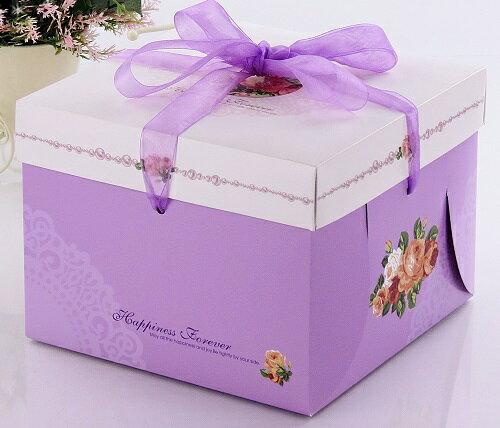 [零售量]方型蛋糕盒.幸福玫瑰 10 號 / 50個