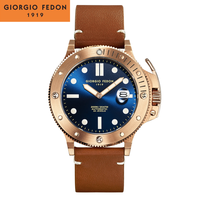 Giorgio Fedon 喬治菲登1919 AQUAMARINE復仇者系列 機械腕錶 GFCL005 藍X玫瑰金/45mm-大台中時計-流行女裝