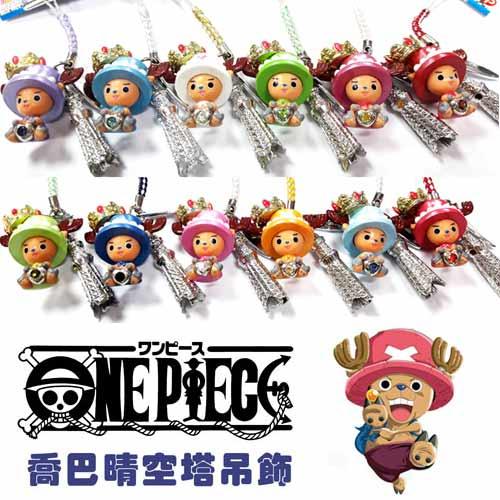【日本進口正版】日本正版 航海王 海賊王 喬巴 東京 晴空塔 吊飾 擺飾 公仔