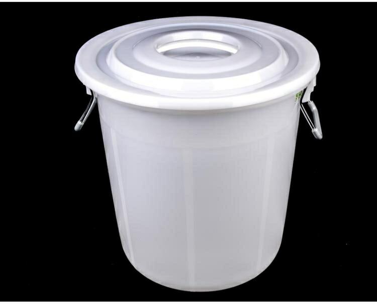 大垃圾桶大號環衛容量廚房戶外無蓋帶蓋圓形特大號商用塑 【無憂百貨鋪】