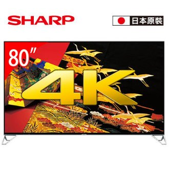 SHARP 80型 4K四原色安卓智慧電視(LC-80XU35T)