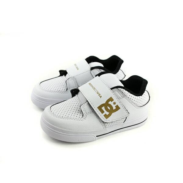 DC運動鞋魔鬼氈白色小童童鞋ADTS300028-WGDno137