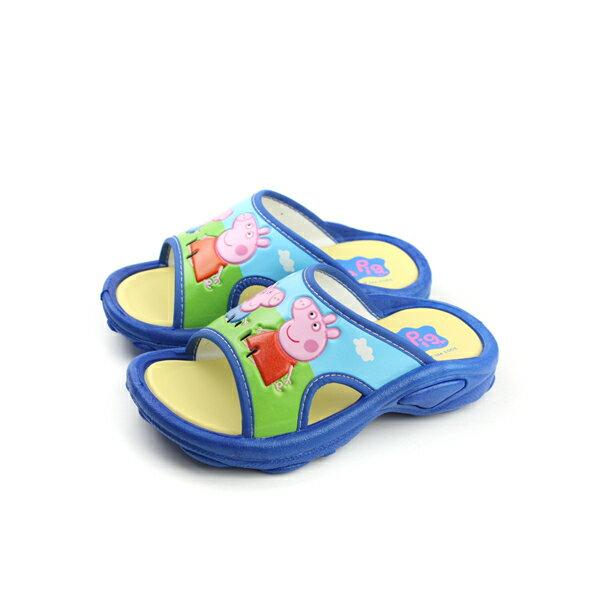 粉紅豬小妹 涼鞋 童鞋 藍色 小童(無鬆緊帶) G0034 no693