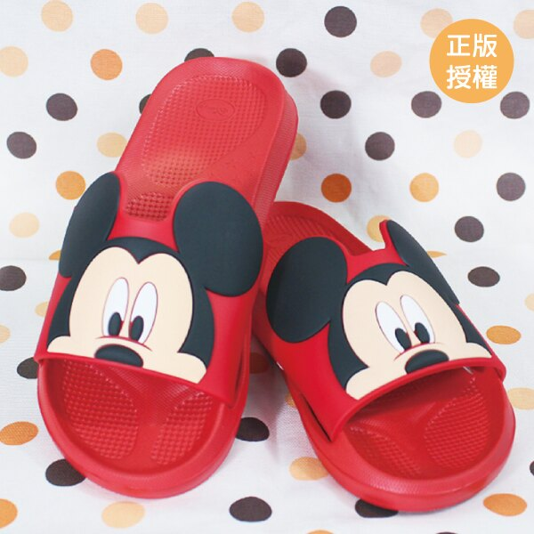 正版迪士尼 米奇造型室內拖鞋 23~27CM/米老鼠/塑膠浴室拖鞋/居家拖鞋/LAIBAO蕾寶生活廣場