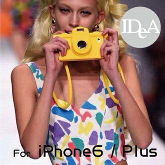 Moschino iPhone6 Plus 潮流復古相機造型TPU保護殼 伸縮鏡頭 手機套 矽膠軟殼 4.7 5.5吋 掛繩 支架