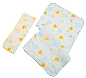 ~121婦嬰用品館~Piyo 黃色小鴨 印圖紗布澡巾 2入