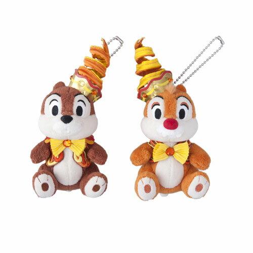 X射線【C620003】日本東京迪士尼代購-35週年限定版奇奇蒂蒂Chip'n'Dale吊飾娃娃,絨毛填充玩偶玩具公仔鑰匙圈吊飾玩偶包包吊飾