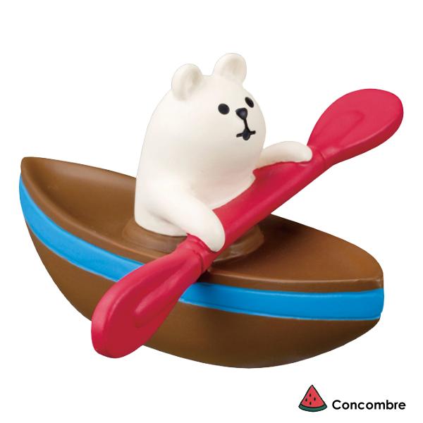 文五雙全x文具五金生活館:Decole擺飾小物攝影道具-划船的北極熊Concombre(ZSV-87912)現貨
