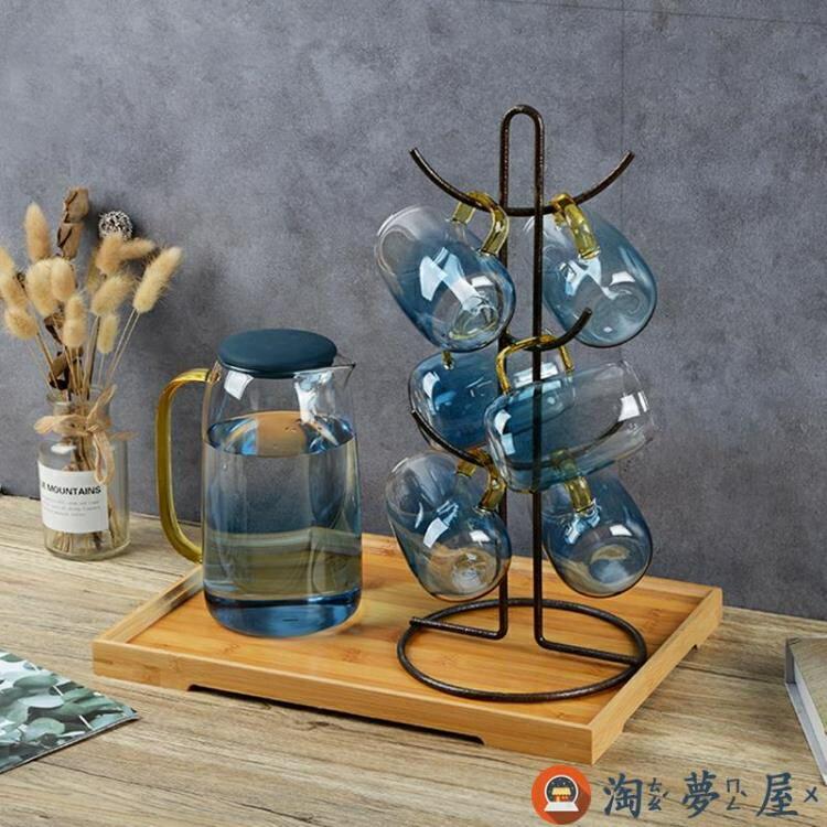 家用水杯架瀝水托盤茶杯架倒掛杯架放杯子架【淘夢屋】