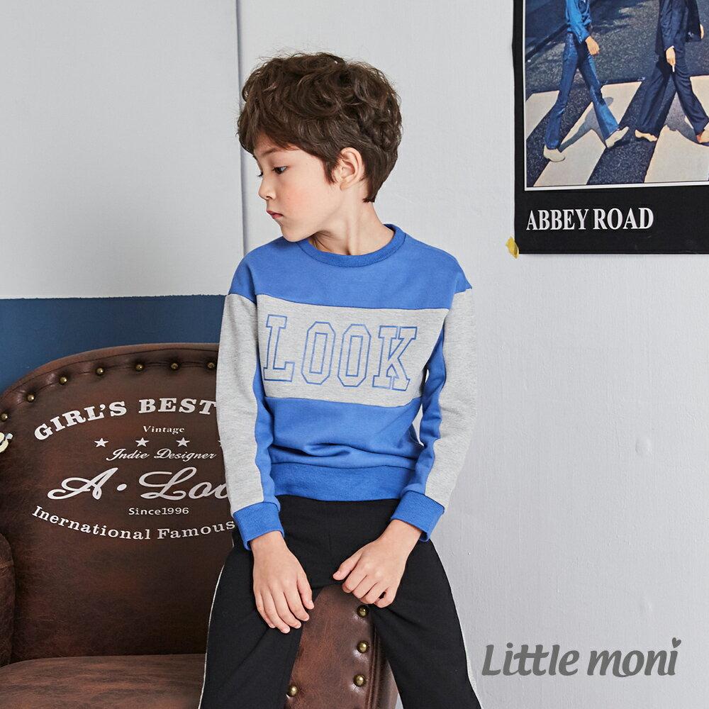Little moni 圓領LOOK拼接上衣-皇家藍(好窩生活節) 1