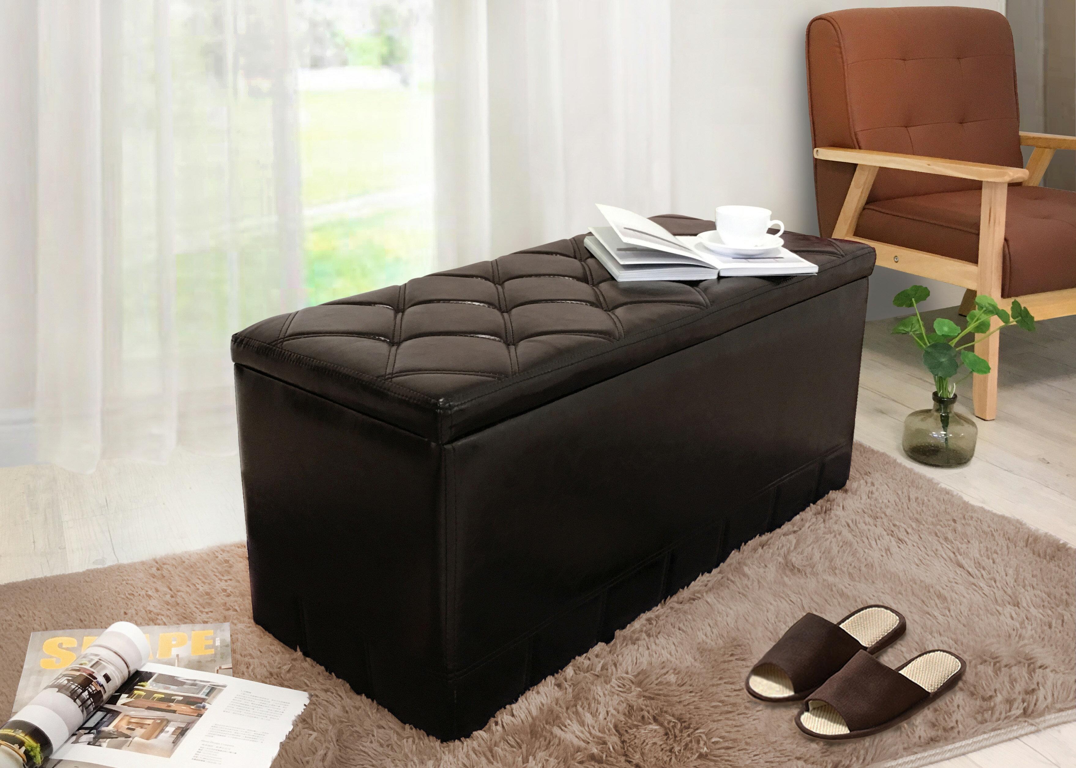 【新生活家具】深咖 現代 簡約 復古 收納箱 穿鞋凳 腳椅 玄關凳 休閒椅 4色可選《菲爾》 非 H&D ikea 宜家