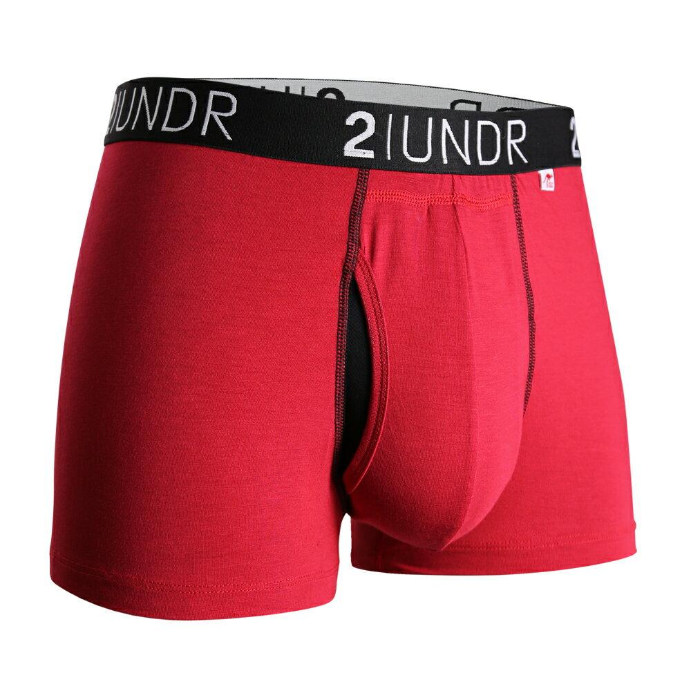 2UNDR【SWING SHIFT】男性內著Red(3吋) - 限時優惠好康折扣