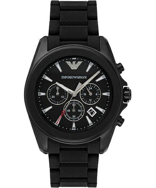 EMPORIO ARMANI/AR6092探險者計時腕錶/黑面45mm