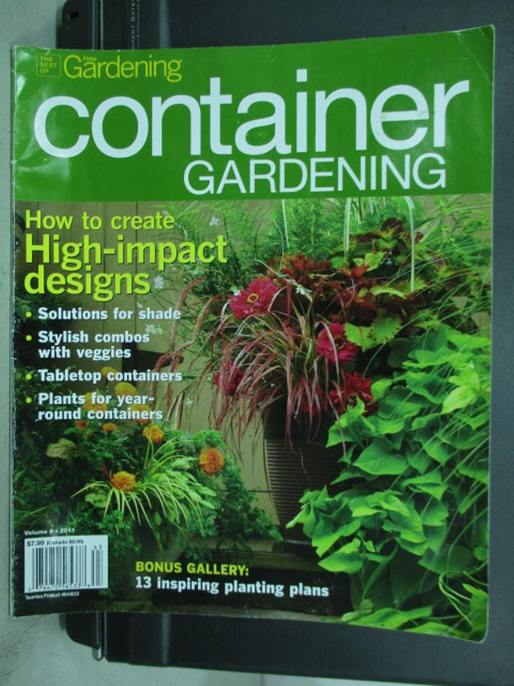 【書寶二手書T7/園藝_QKG】Container gardening_How to create等