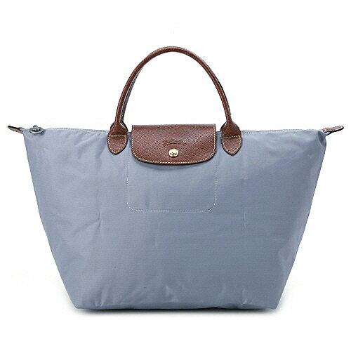 [1623-M號]國外Outlet代購正品 法國巴黎 Longchamp  短柄 購物袋防水尼龍手提肩背水餃包 陶灰色 0