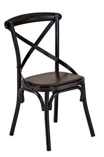 【石川家居】JF-487-7瑪德琳黑色交叉皮面餐椅(單只)(不含其他商品)台北到高雄搭配車趟免運