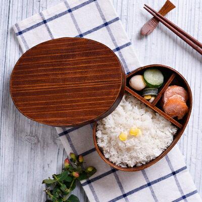 ★木製便當盒飯盒-日式單層環保分格餐盒73pp409【獨家進口】【米蘭精品】 1