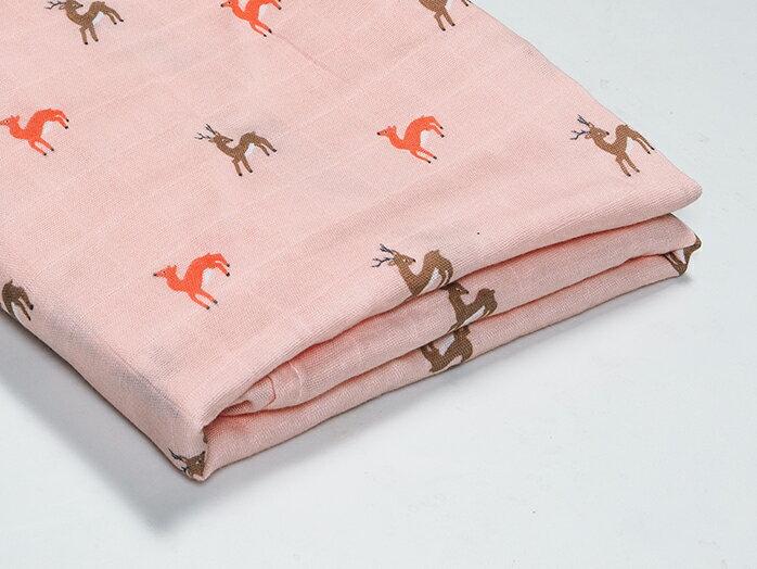 Organic B|有機棉包巾-暖暖鹿奔跑 120x120cm 有機比比 Unicorn