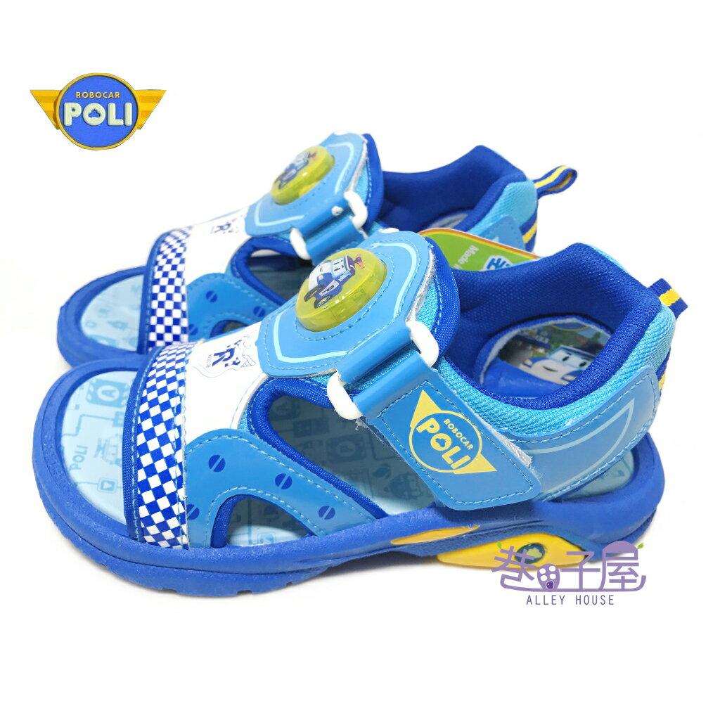 【巷子屋】救援小隊 POLI波力 童款電燈造型運動涼鞋 [51206] 藍 MIT台灣製造 超值價$198