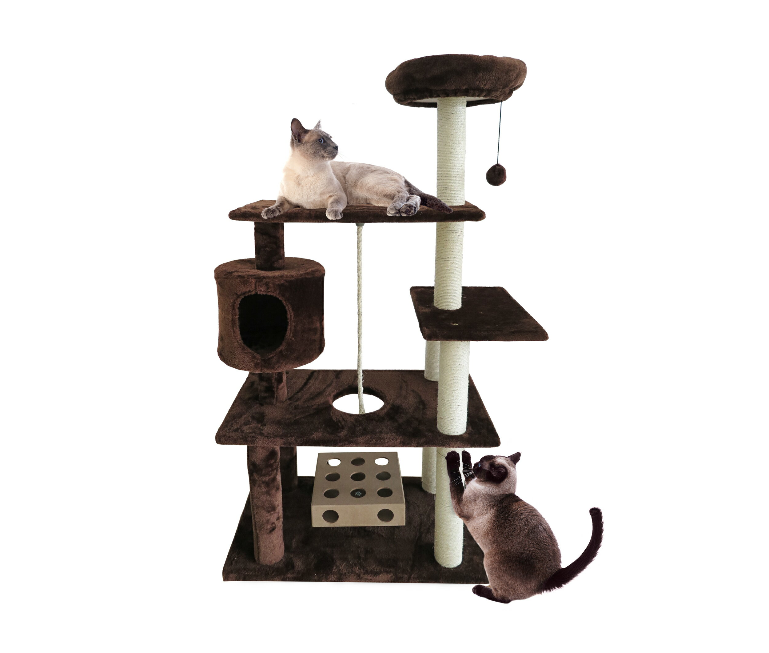 Furhaven Pet Cat Tree Tiger Tough Cat Tree House Furniture For Cats Kittens Deluxe Playground Available In 3 Colors