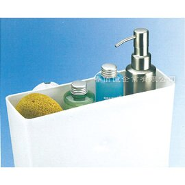 派樂 強力吸盤衛浴收納盒  角落架 1入  吸盤收納 浴室架 收納架 牆角架 置物架 衛浴