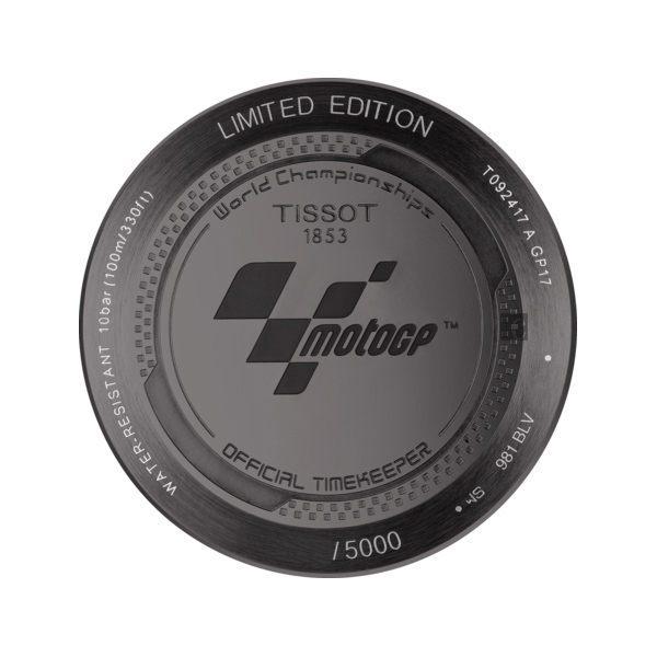 全球限量5000只 TISSOT 天梭 T-RACE MOTOGP 2017限量版賽車錶-黑x藍 / 45mm T0924173706100 5