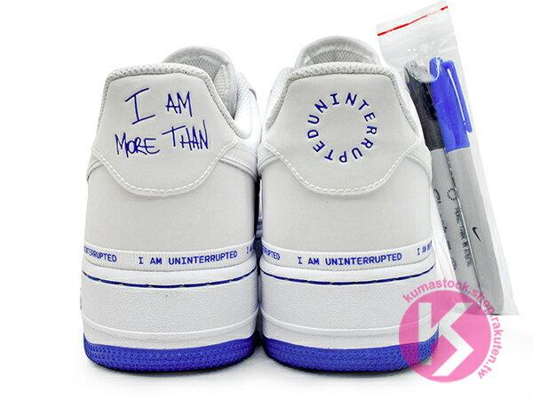 2019 台灣未發售 LeBron James 限量發售 UNINTERRUPTED x NIKE AIR FORCE 1 '07 MTAA QS 低筒 白藍 3M 塗鴉 I AM MORE THAN 空軍一號 (CQ0494-100) ! 4