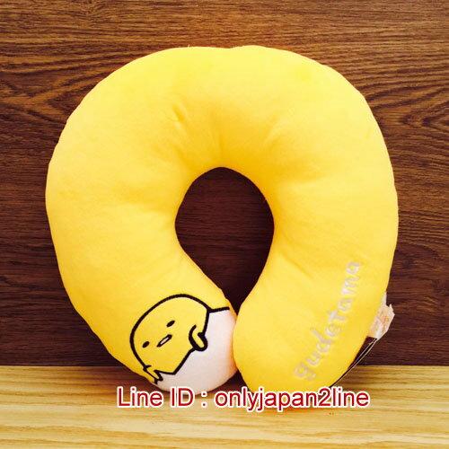 【真愛日本】16123000001U型頸枕-蛋黃哥  三麗鷗家族 蛋黃哥 Gudetama  居家 車用 靠枕 正品