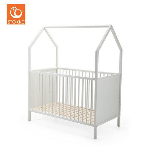【獨家贈床包】挪威【Stokke】Home 嬰兒床 (純白/深灰) 0