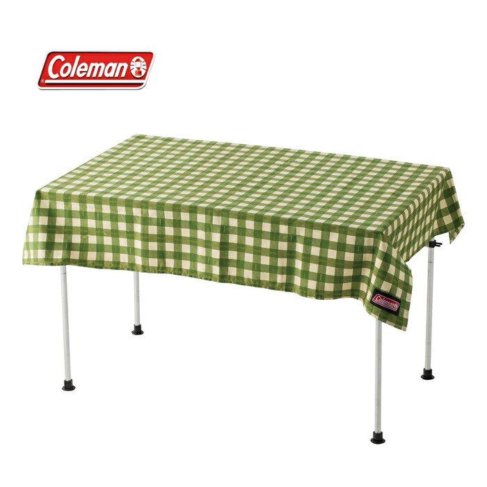 【露營趣】中和安坑 Coleman CM-26879 綠格紋桌布 桌巾 野餐墊 抗污 防水 耐磨 適用 摺疊桌 蛋捲桌